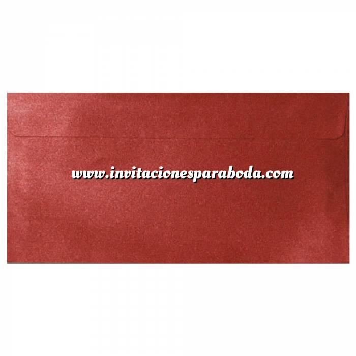 Imagen Sobre Americano DL 110x220 Sobre Perlado Rojo DL (Rojo Cardenal)