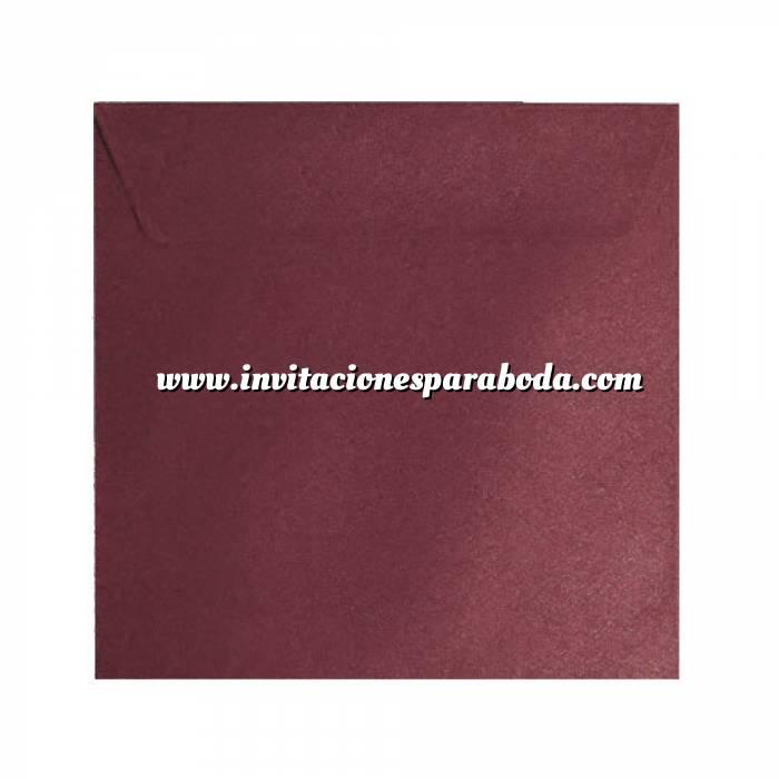 Imagen Sobres Cuadrados Sobre textura rojo Cuadrado - Vino Burdeos