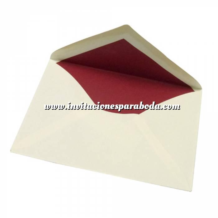 Imagen Sobres Forrados Sobre 14x9 forrado rojo