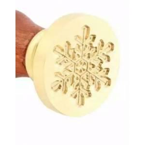 Imagen Diseños inmediatos Sello lacre mango largo - NAVIDAD - Copo de Nieve (Últimas Unidades)