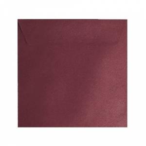 Sobres Cuadrados - Sobre textura rojo Cuadrado - Vino Burdeos